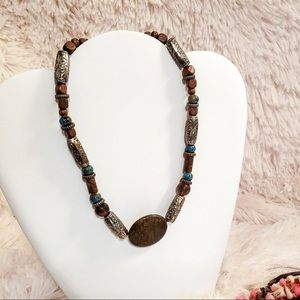 Vintage 90's Beaded Southwestern Style Necklace